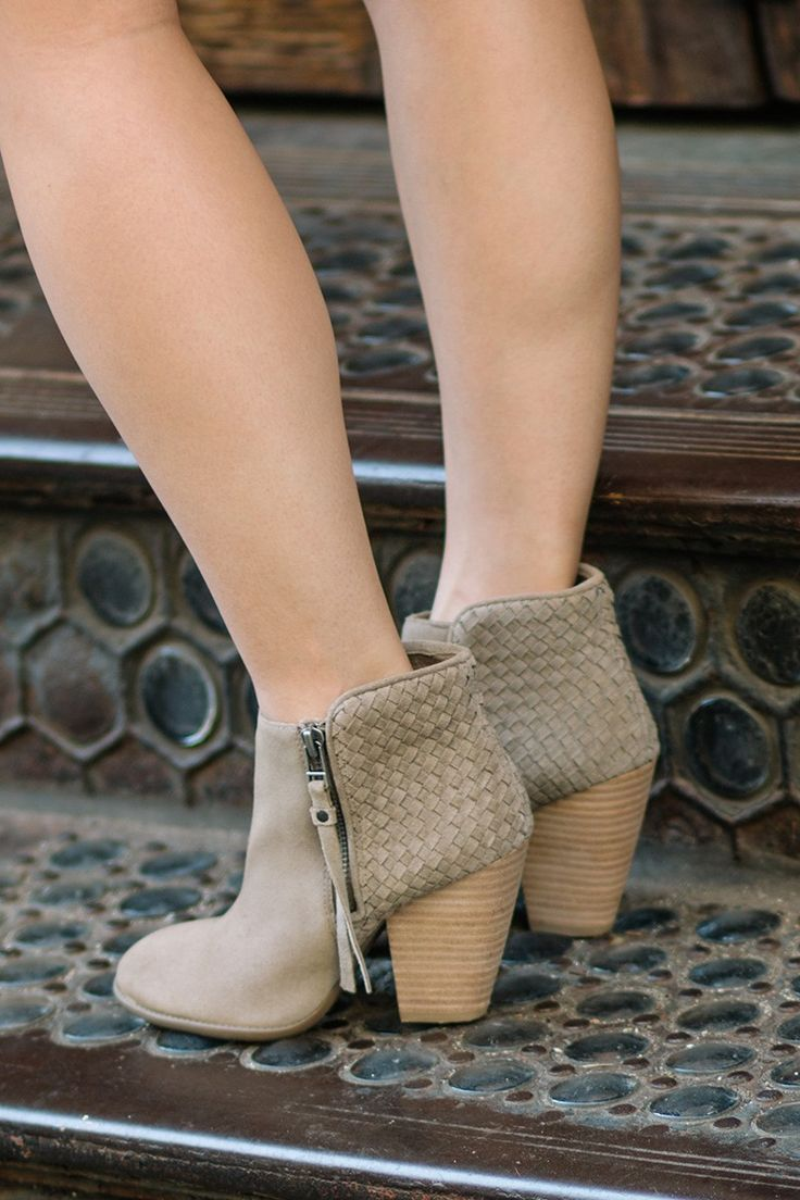 Love these Sole Society booties with weaving along the back!