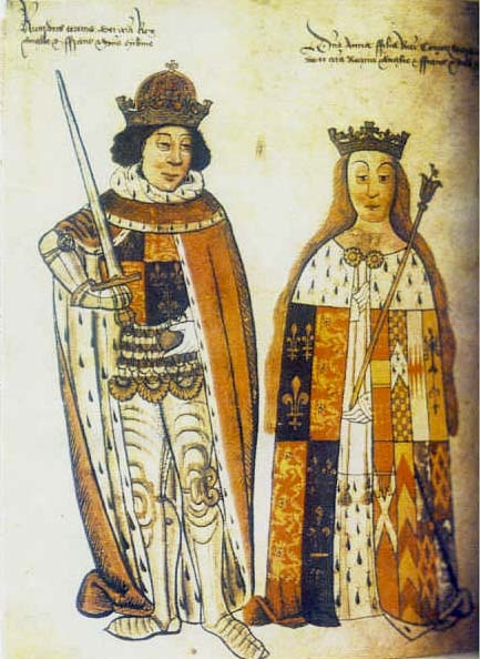 Elizabeth of York & Henry VII - Henry married Elizabeth of York and united the Houses of York and Lancaster.  The Tudor rose is a symbol of the two houses no longer separated but united.Henry was partly Welsh.He helped England to recover from all the poverty and violence of the Wars of the Roses.