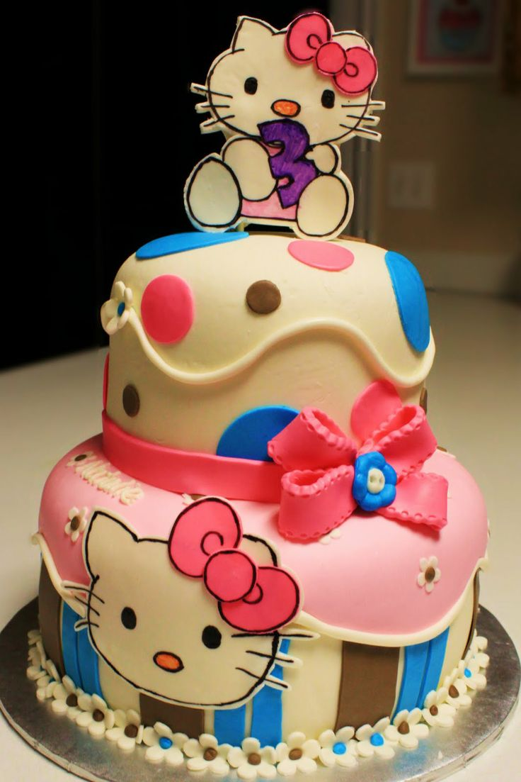 two tier cakes | Layers of Love: Two Tier Hello Kitty Cake