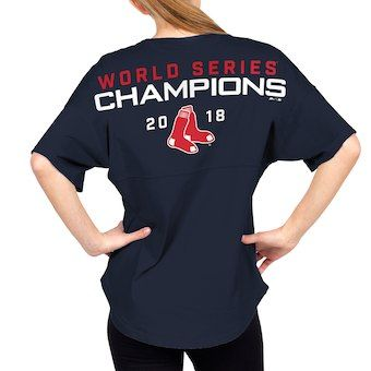 f1687664e Women s Boston Red Sox Majestic Navy 2018 World Series Champions Field  Spirit Jersey V-Neck T-Shirt.  baseball  redsox