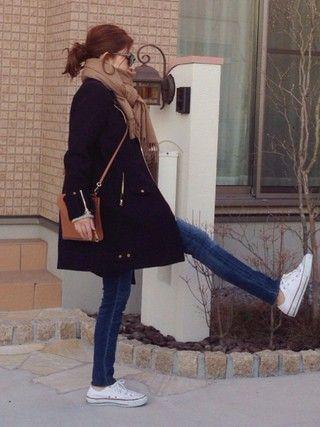 mayumiさんの「◆CINOH WOOL ライダースコート(Deuxieme Classe ドゥーズィエムクラス)」を使ったコーディネート