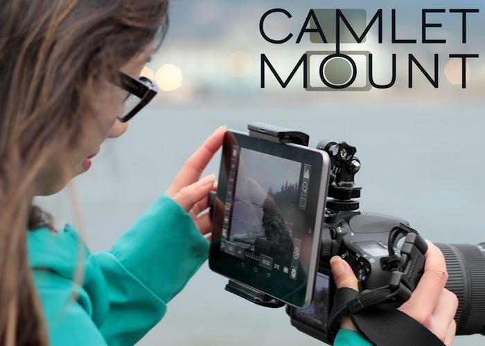 Camlet Mount DSLR Tablet Controller And Real Time Viewer From $35 (video)