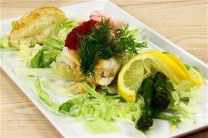 Fiskefilet med, rejer, kaviar og ananas 4