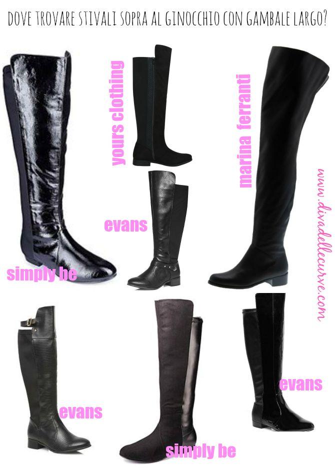 dove comprare #stivali sopra al ginocchio con gambale largo online, per i link diretti ai prodotti vai al post http://www.divadellecurve.com/2015/01/acquistare-stivali-polpaccio-grande.html #widecalfboots #polpacciogrande