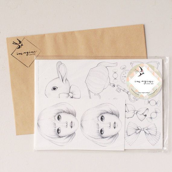 SKETCH Set TEA PARTY by ImagineAndDoHelsinki on Etsy, €9.90