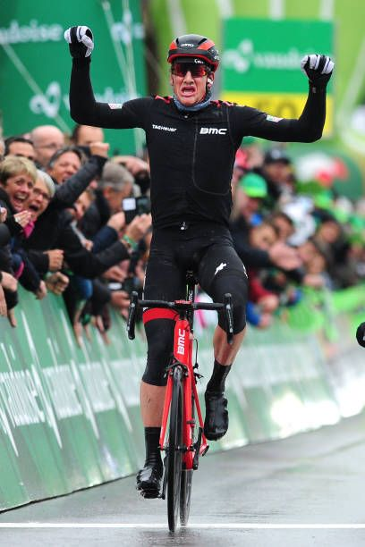71st Tour de Romandie 2017 / Stage 2 Arrival / Stefan KUNG Celebration / Andriy GRIVKO / Champery BulleRiaz 724m / Stage shortened due bad weather /