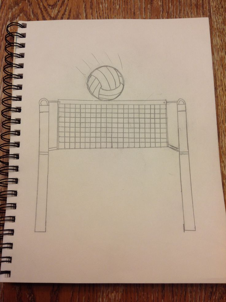 My volleyball drawing!