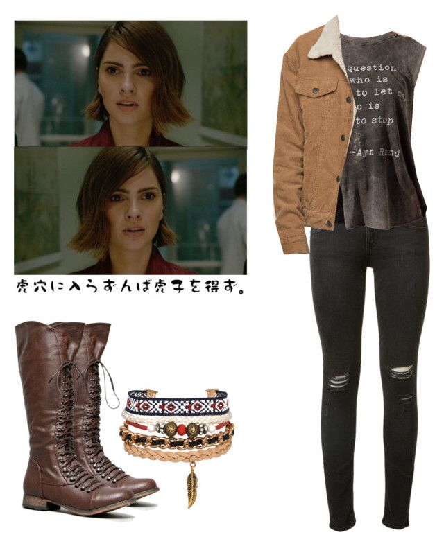 """Malia Tate - tw / teen wolf"" by shadyannon ❤ liked on Polyvore featuring rag & bone and Breckelle's"