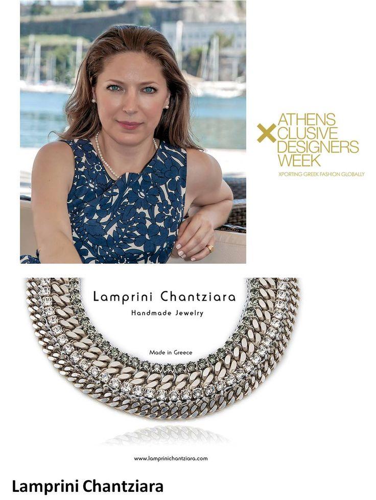 18th AXDW welcomes Lamprini - One of a Kind Handmade Jewelry heart emoticon  Η Λαμπρινή Chantziara γεννήθηκε στην Κέρκυρα, αλλά τα τελευταία χρόνια ζει και εργάζεται στην Αθήνα. Στις αρχές του 2010 δημιούργησε την πρώτη της προσωπική συλλογή κοσμημάτων και από τότε συνεχίζει να δημιουργεί ευφάνταστα κοσμήματα που πωλούνται σε όλο τον κόσμο, ενώ έχει λάβει μέρος σε πολλές μεγάλες διεθνείς εκθέσεις του εξωτερικού.