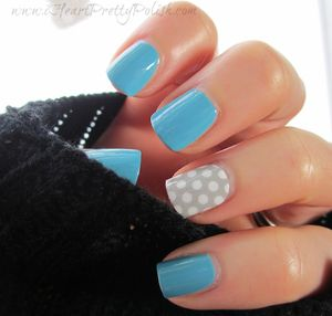 Dot Accent Nail Design