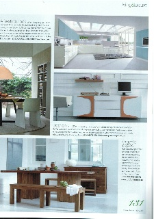 Website Picture Gallery Kitchens u Bathrooms magazine April Featured Lifestyle image of megan dining table in natural