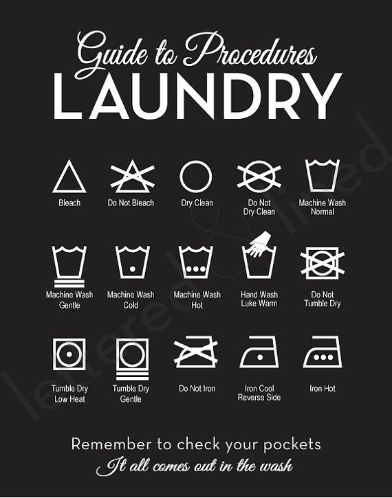 Laundry sign - yes, but I need it because some of these symbols are on yarn labels and I never remember what they mean!