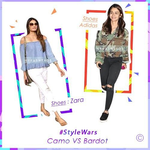 Who wins this one? @athiyashetty @aliaabhatt Shout out below #StyleWars #MyFashTags #AirportStyle
