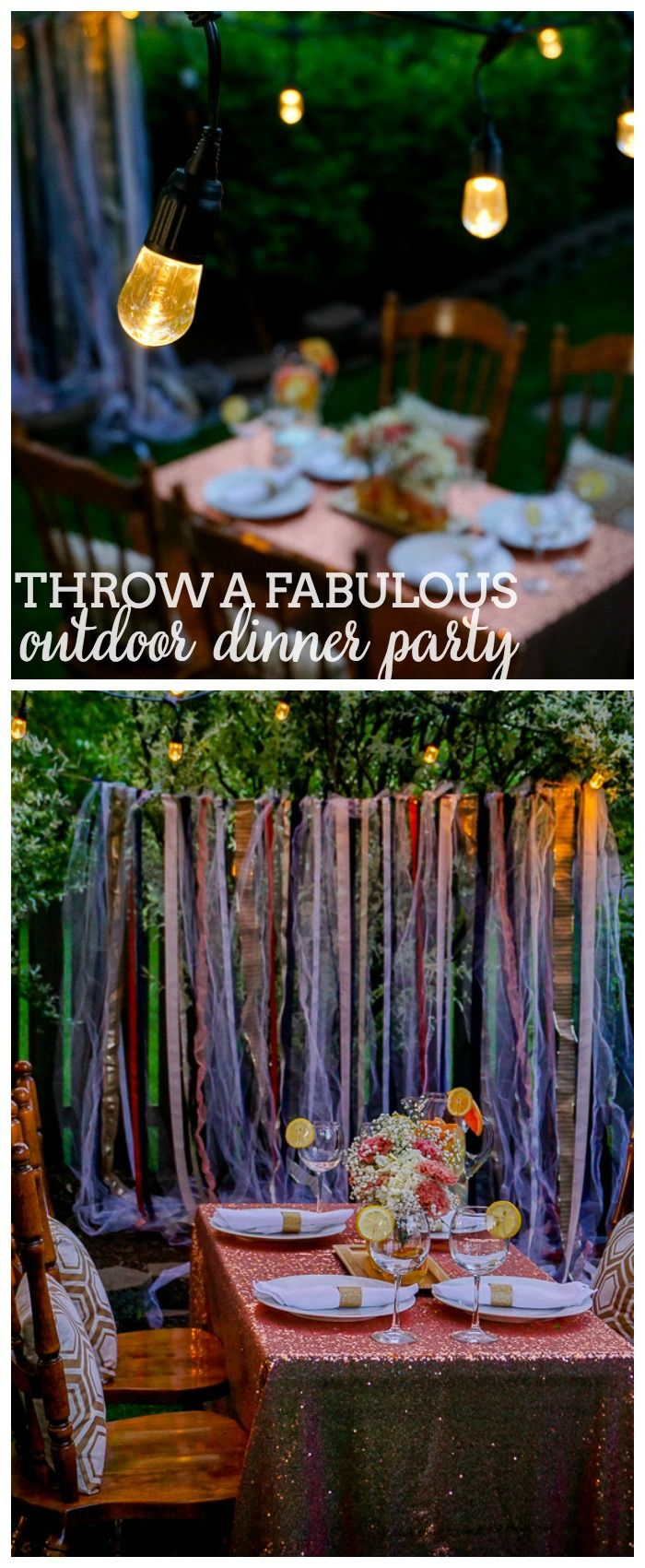26 best images about parties decorations on pinterest for Outdoor dinner party decorating ideas
