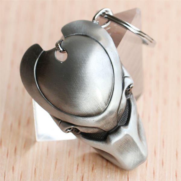 10pcs/lot Men AVP Alien Predator Mask keychain llavero metal Keyring tritium sleutelhanger gift souvenirs