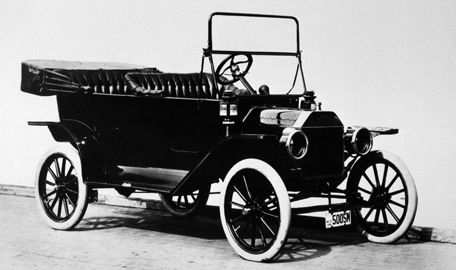 """On Oct. 1, 1908, the Ford Model T was introduced to the public. The Model T, called the """"car for the great multitude"""" by Henry Ford, made cars available to the average person, revolutionizing the automobile industry."""