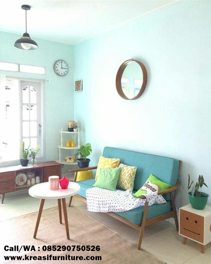 Kursi Sofa 2 Dudukan Kayu Jati Kreasi Furniture Jepara Desain Interior Ruang Tamu Rumah Interior