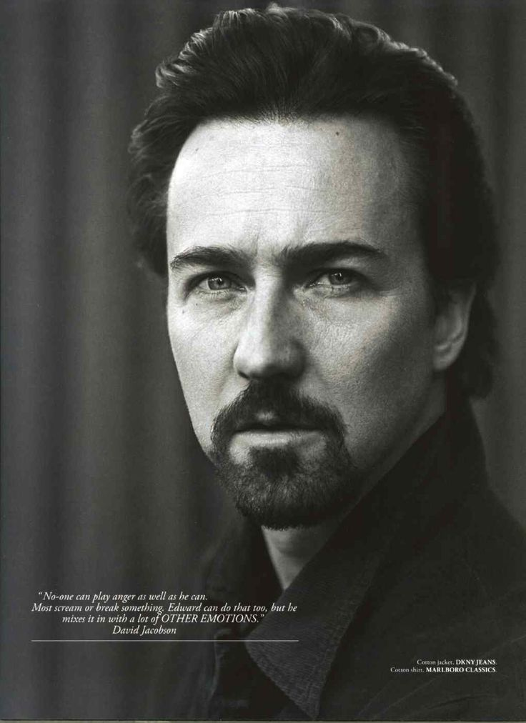 Edward Norton. Hes another actor with a kind voice and is amazing to watch on screen. By far his best performance is in American History X...can we say woooowww!?