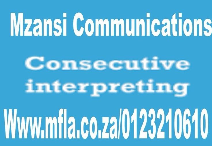 Consecutive interpretation services are commonlyused for the courts, hearings, depositions, examination for discovery, tourguides, medical examinations, or business meetings. The procedure forconsecutive interpreting is for the speaker to speak two or three sentences inthe source language and then pause, the interpreter then interpret thesentences into the target language and relays it to the other person.Contact us for a free quote Email: infomfla@gmail.comCall: 0123210610Website…