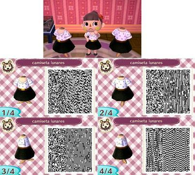 animal crossing new leaf qr code black and white dress