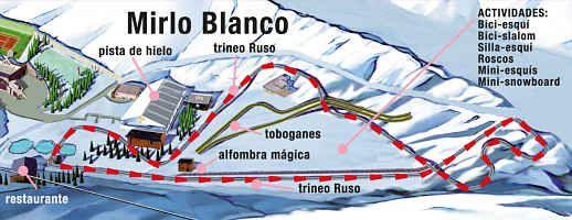 ACTIVIDADES MIRLO BLANCO – SIERRA NEVADA – GRANADA: Para toda la familia.  ¿Una singular montaña rusa, alfombra mágica, toboganes, castillos hinchables… todo a 2.100 metros de altitud? Sí, existe… y está en Sierra Nevada. El parque de actividades Mirlo Blanco está diseñado para que disfrutes de la nieve sin necesidad de calzarte los esquís.  Y no olvides probar la atracción estrella, un Trineo Ruso que te hará volar sobre la nieve… HORARIO  Ubicado en Pradollano, al final de la pista del…