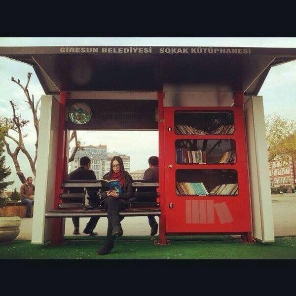 A micro library in Giresun, Turkey