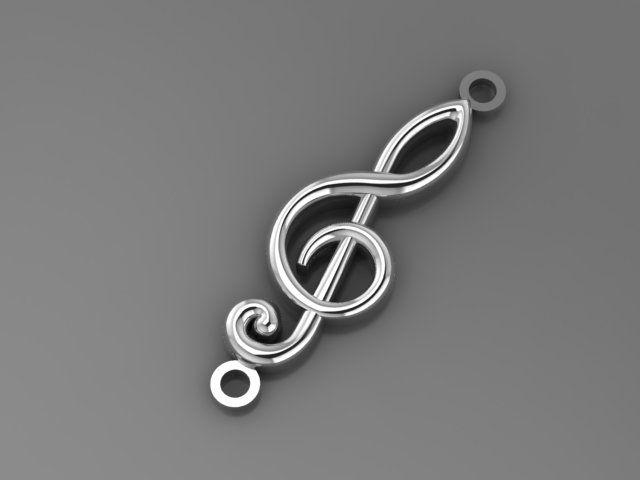 """Веревочный браслет с подвеской """"Скрипичный ключ"""""""