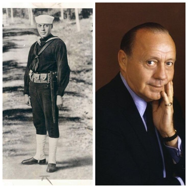 Jack Benny (born Benjamin Kubelsky; Feb 14, 1894 – Dec 26, 1974) left show business briefly in 1917 to join US Navy during World War I, and he often entertained troops with his violin playing. One evening, his violin performance was booed by troops, so with prompting from fellow sailor and actor Pat O'Brien, he ad-libbed his way out of the jam and left them laughing. He received more comedy spots in revues & did well, earning himself a reputation as a comedian & musician.