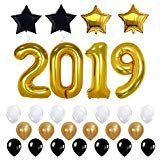 Trooer 28 Pcs 2019 Graduation Balloons Kit - Large Black Gold and White Mylar Foil and Latex Balloons for Graduation Supplies # Toy Games #Dr