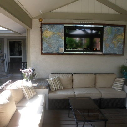 patio tv cabinet design ideas, pictures, remodel and decor | bar ... - Patio Tv Ideas
