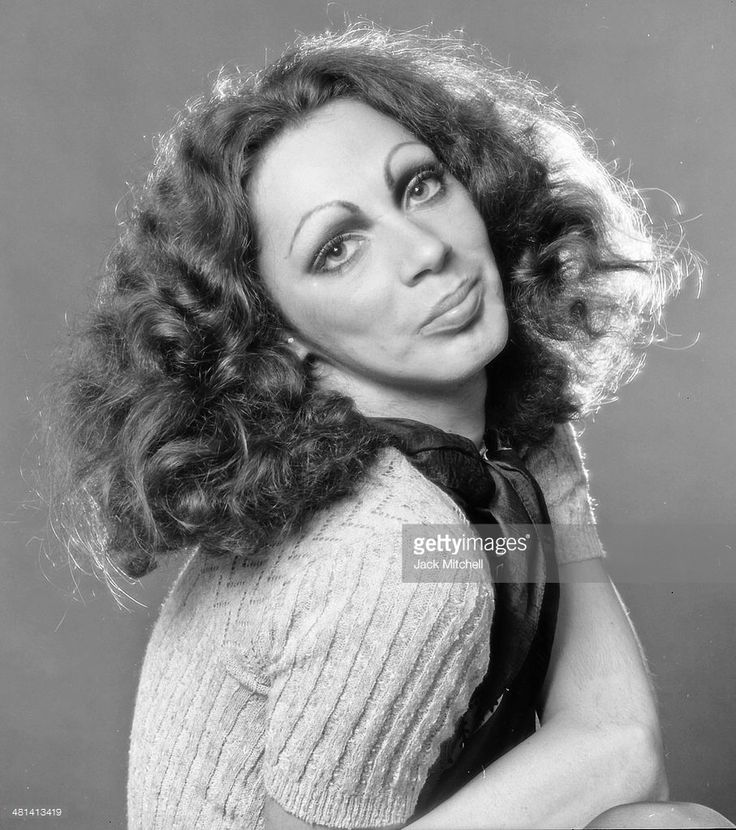 Andy Warhol transvestite Superstar Holly Woodlawn, acclaimed for her performance in 'Trash', photographed in 1970.