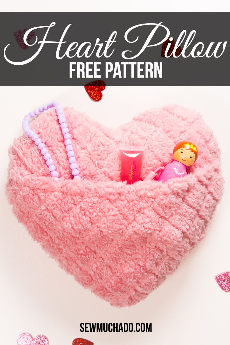 heart cushion heart sewing pattern heart pillow pdf Valentines day sewing large pin cushion instant download