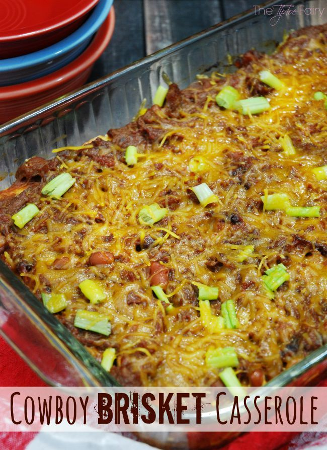 Cowboy Brisket Casserole - a simple and delicious cheesy and heart one-dish meal that's perfect for week night dinner! #FullnRichFlavor #Pmedia #ad | The TipToe Fairy