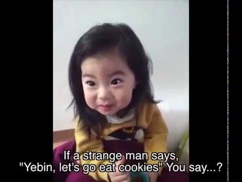 [Official] Mom Teaches Cute Korean baby Yebin a Life Lesson - YouTube