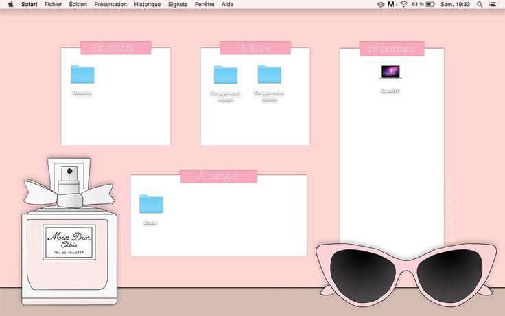 La Paillette - Blog Rennes Illustrations Mode Lifestyle: Calendrier de Juin et fond d'écran organisé - Miss Dior Chérie