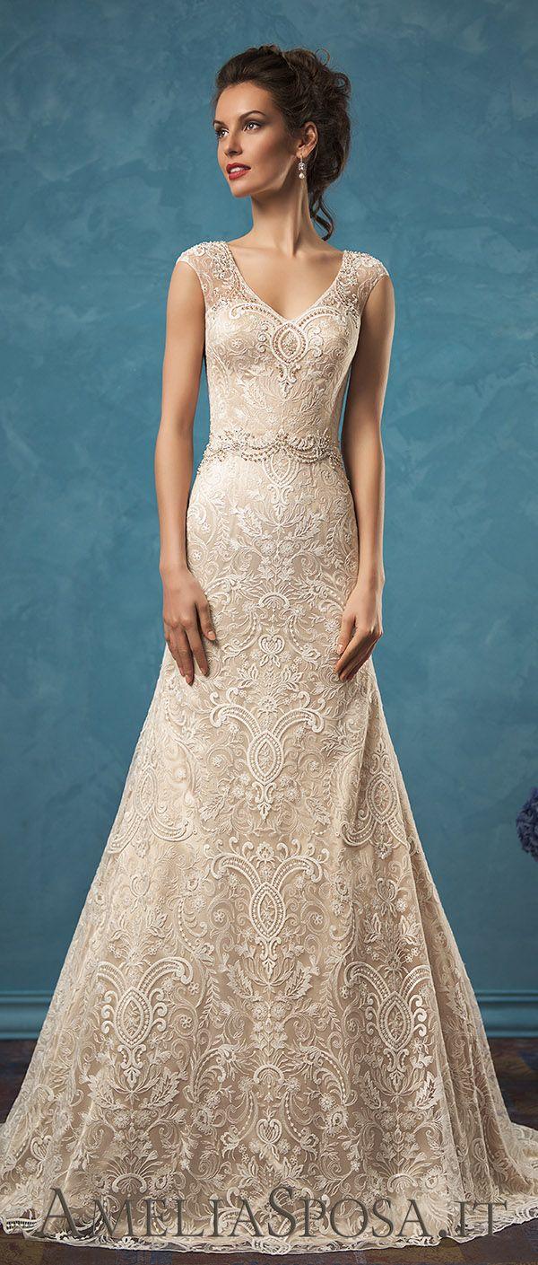 Amelia Sposa 2017 aristocratic beaded lace wedding dresses Adele