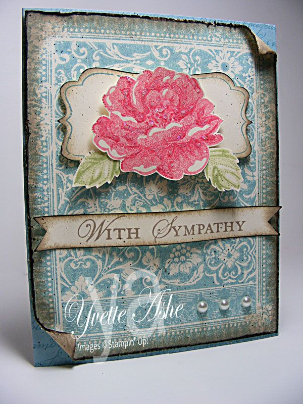 Ex libris stamp: Stippling Blossoms, Cards Ideas, Sympathy Cards, Cards Stampin, Stampin Up, Blossoms Sympathy, Libri Backgrounds, Paper Gardens, Paper Crafts