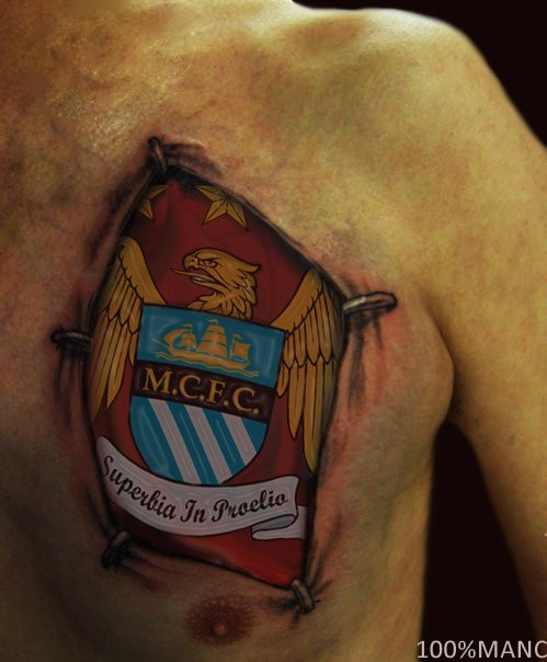 This @Manchester City tattoo board is so creative. The Citizens are definitely a trendsetter in sports and social media.