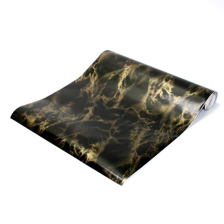 Marble Contact Paper Black Gold