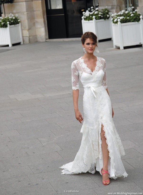 Pretty Wedding Dress With Sleeves Bridal Gown Sleeved Lace Front Slight Beautiful Party These Dresses Look Really Good