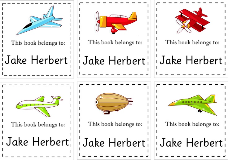 Book labels from online store www.kidslabels.co.za