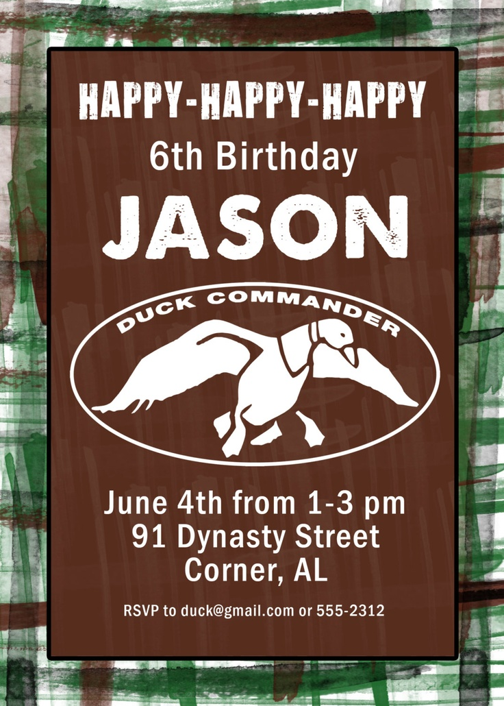 18 best duck dynasty birthday images on pinterest duck dynasty duck dynasty duck commander birthday party invitation happy happy happy green or pink filmwisefo Gallery