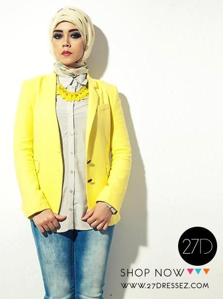 yellow blazer outfit, 27dresses Eid collection http://www.justtrendygirls.com/27dresses-eid-collection/