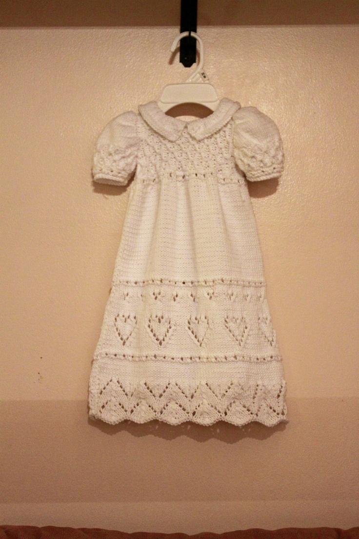 Knit Infant Dress Pattern. $7.00, via Etsy.