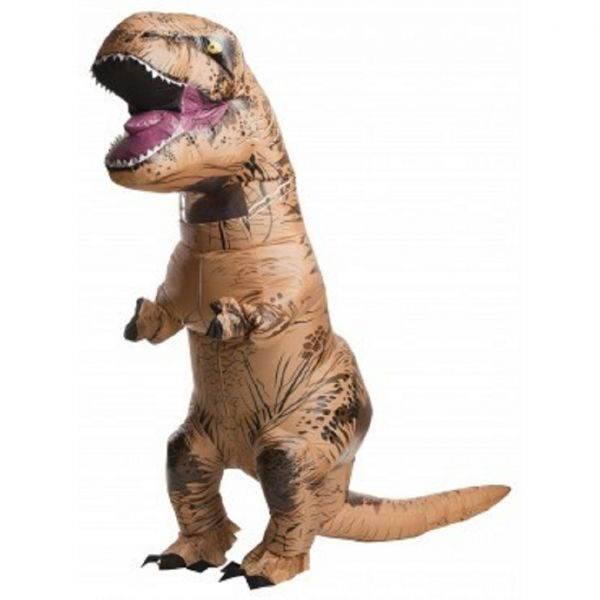 Adult Jurassic Park T-Rex Inflatable Costume - Tyrannosaurus Rex  Get ready to bring the most well-known dinosaur of all time to life with this Jurassic Park T-Rex Inflatable Costume!  It's an inflatable getup that's both comfortable and eye-catching, and it even comes with a battery operated fan to help you stay cool while you stomp around at the Halloween party.  Your friends and family will be impressed by the quality of your getup, and the kids will be amazed that they finally get to…