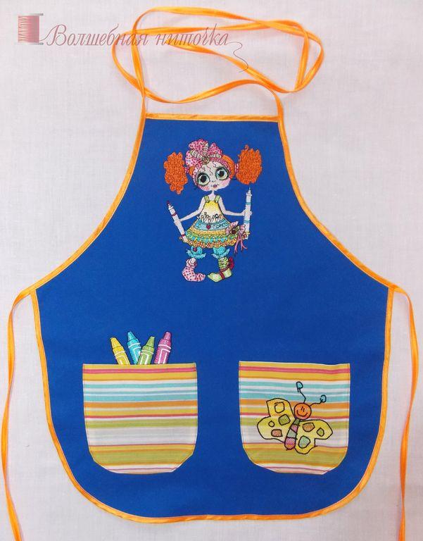 Купить Фартук для детского творчества - разноцветный, фартук, синий, фартук для…