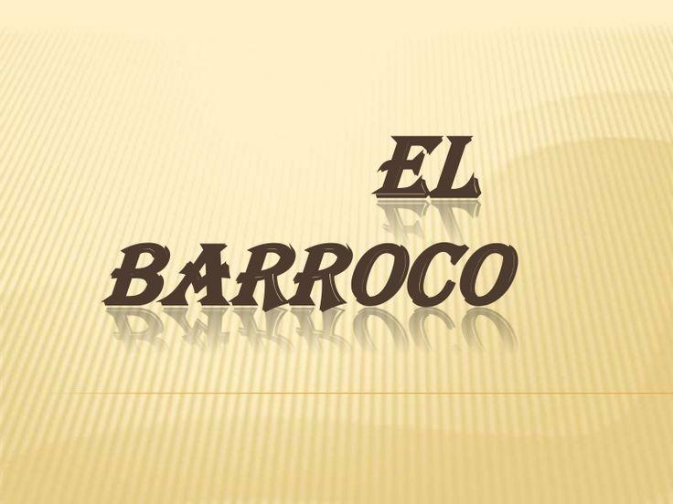 Presentación de la literatura en la época del barroco.