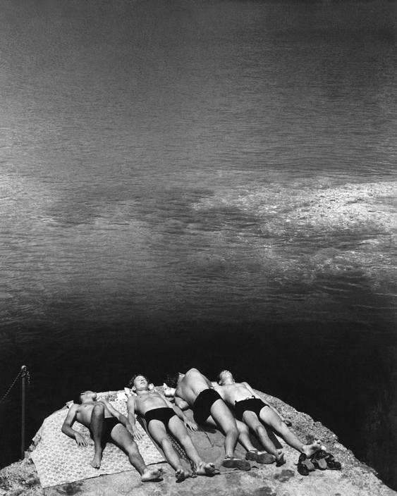 "Italian Vintage Photographs \Herbert LIST  ~ ""Dreaming in the Sun"" / Portofino, Liguria, Italy, circa 1936"
