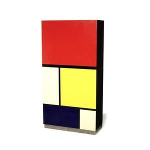 Kuramata Mondrian cabinet  height 162cm x depth 36cm x width 83cm Estimate: £3,000 - 5,000 US$ 4,800 - 8,000 €3,800 - 6,300