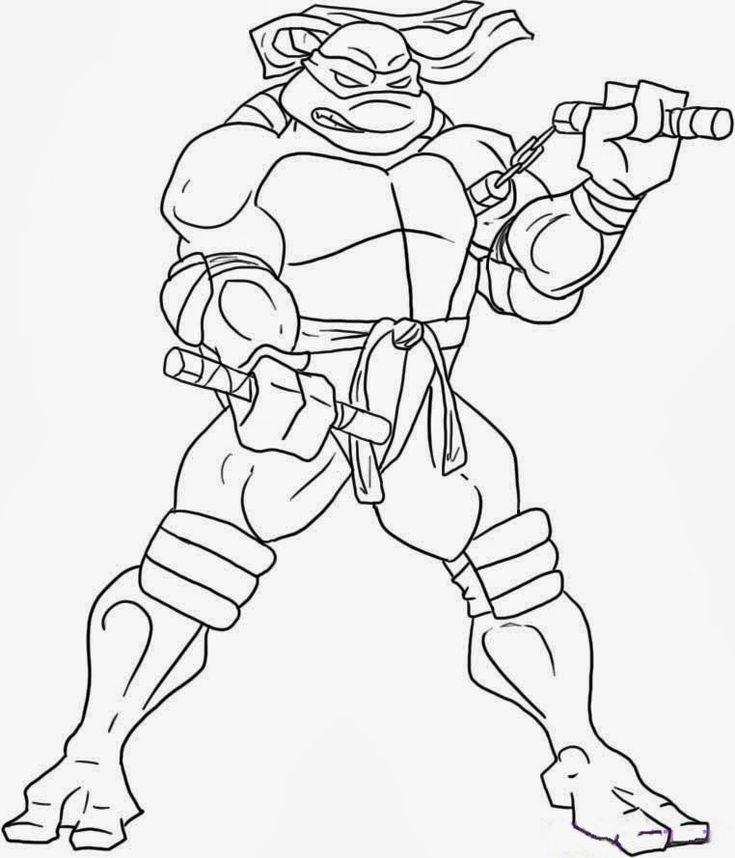 Mejores 15 imágenes de Tortugas Ninja para colorear en Pinterest